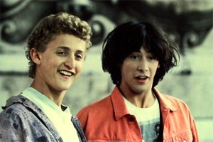 """Totally awesome news, dude! Bill and Ted 3 is on the way!"""