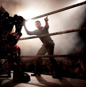 Try not to think of Transformers with the Real Steel trailer
